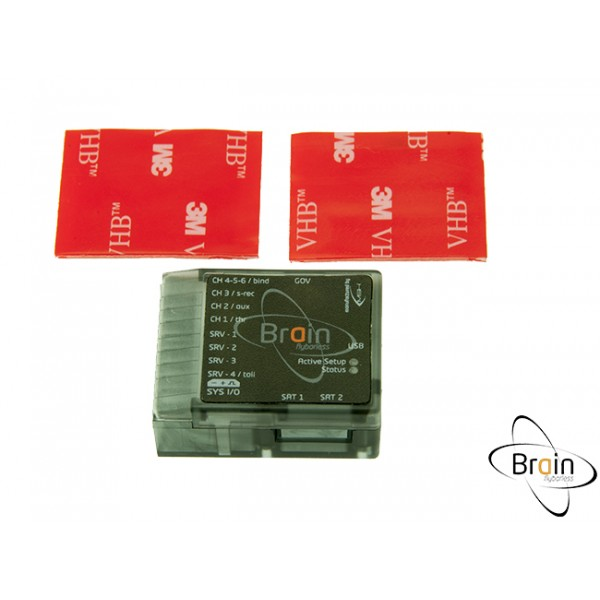 MSH Brain Flybarless System Case - Clear Black [MSH51617]