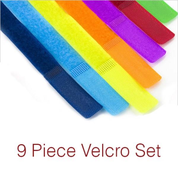 7 Pc Reusable Hook and Loop Cable Tie Velcro Strap [RCHERORAINVELC]