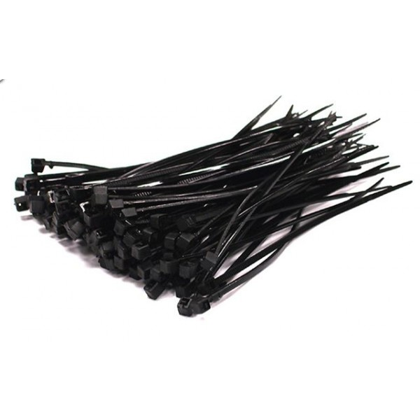 Large Black Cable Ties 100 Pack [LRG-BLK-CBLT]
