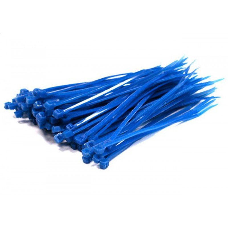 Small blue cable ties 100 pack blu cabletie