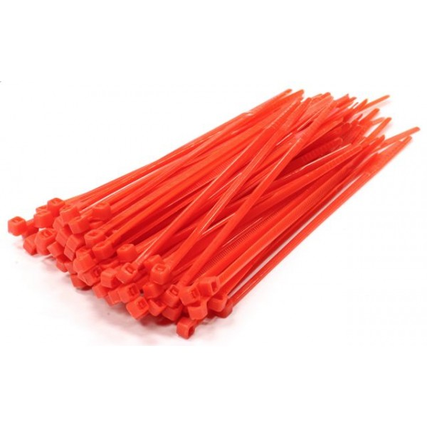 Large Red Cable Ties 100 Pack [LRG-RED-CBLT]
