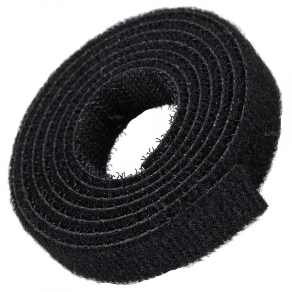 Quantum Velcro 3/4inch/19mm Wide Black Strap 1 Meter Long Q-VEL-0006 [Q-VEL-0006]