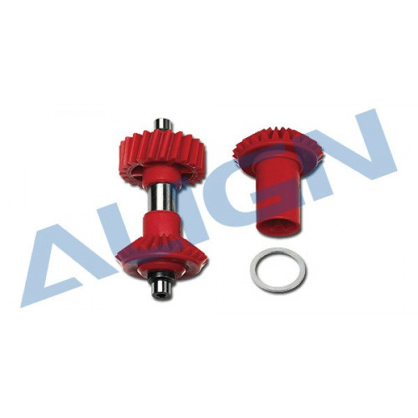 M1 Torque Tube Front Drive Gear Set/22T RED [H70G001BXT]